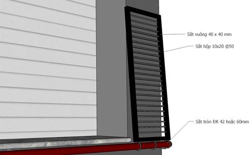 Tùy vào kích thước mặt tiền của nhà mà hai tấm thép sẽ có bề ngang phù hợp.