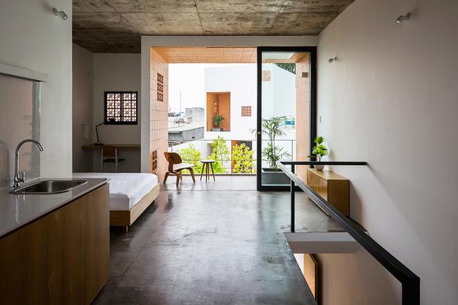 Tất cả các căn hộ độc lập đều thông thoáng, có ánh sáng tự nhiên.