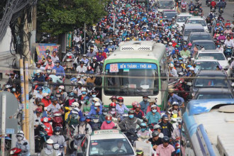Tình trạng kẹt xe tại TP.HCM ngày càng trầm trọng. (Ảnh: Thời báo Kinh tế Sài Gòn Online)