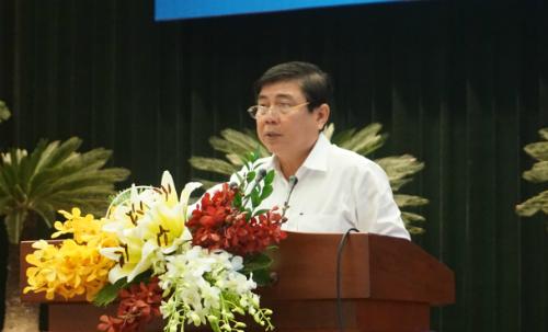 Ông Nguyễn Thành Phong - Chủ tịch UBND TP HCM cho biết mục tiêu dài hạn là Thành phố phải có doanh nghiệp vào được Top 500 thế giới. Ảnh: Viễn Thông