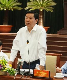 Bí thư Đinh La Thăng khẳng định TP HCM đã tụt hậu so với khu vực nên cần quyết liệt tăng tốc. Ảnh: Viễn Thông