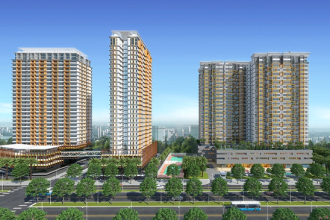 Tổng thể khu căn hộ Dragon Hill Residence and Suites 1, Nguyễn Hữu Thọ, Nam Sài Gòn.