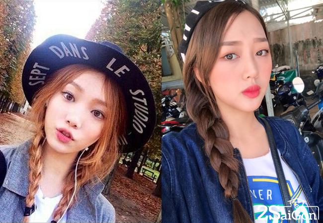 chi em song sinh cua tien nua cu ta lo tai dien vietnams next top model 2017 1