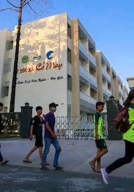 Ngày 19/7/2016, ký túc xá Cỏ May được đưa vào phục vụ miễn phí cho sinh viên nghèo học giỏi. Ký túc xá nằm trong khuôn viên rộng hơn 2.600 m2, thiết kế 4 tầng hiện đại thuộc Đại học Nông Lâm (phường Linh Trung, quận Thủ Đức, TP HCM)