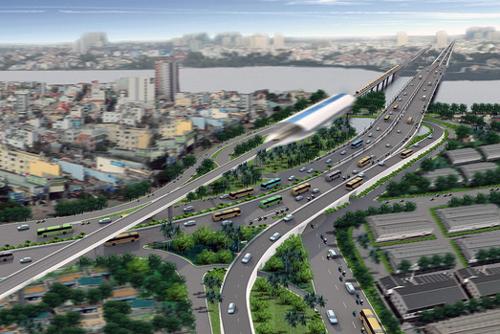 Trong tương lai, song song với xa lộ Hà Nội sẽ có tuyến đường sắt đô thị đầu tiên của Sài Gòn. Ảnh: Đồ họa