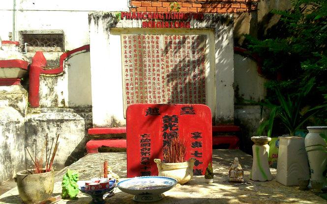 Khu mộ danh tướng Phan Tấn Huỳnh - Ảnh: HỒ TƯỜNG