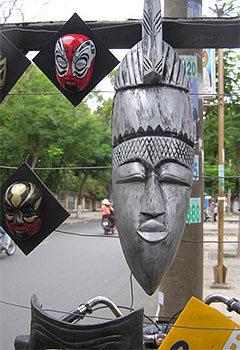 Nét Ai Cập cổ suy tư giữa lòng phố Sài Gòn.  Ảnh: Dân Trí.