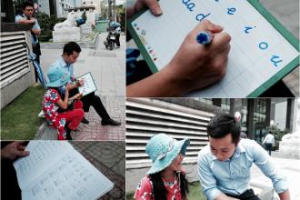 Lớp học đặc biệt của thầy trò anh Tú ở giữa Sài Gòn.