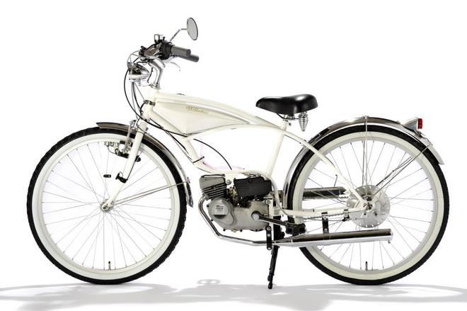 Do luật của Nhật cấm chở người ngồi sau bằng xe đạp nên FK310 LA III chỉ có giá để hàng đằng sau với dây chun chằng đồ thay vì yên.