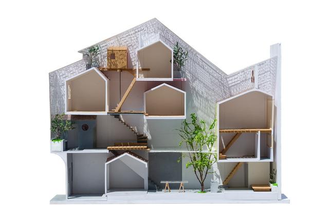 Mô hình mặt cắt Sài Gòn House