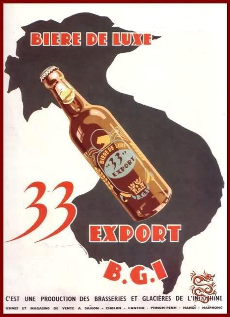 Những mẫu quảng cáo bia 33 Export của B.G.I