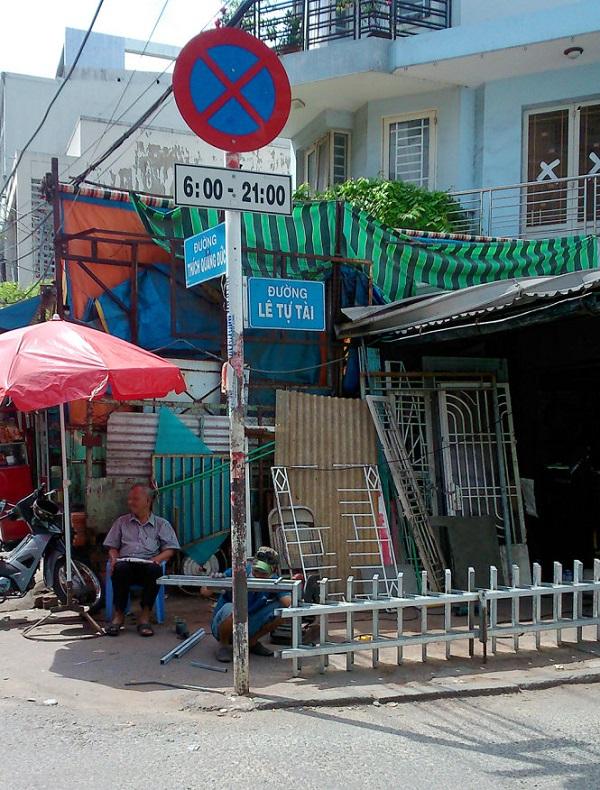 Đường Lê Tự Tài ở quận Phú Nhuận để tưởng nhớ đến ông Lê Tự Tài có công lập chợ Xã Tài, tức chợ Phú Nhuận ngày nay - Ảnh: Hồ Tường