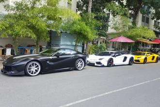 Dàn siêu xe trên đường phố Sài Gòn. >> Ảnh chi tiết