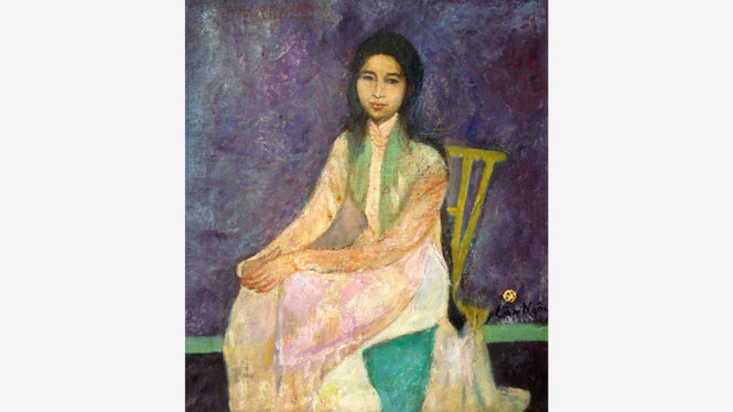 Chân dung thiếu nữ (Hoàng Lập Ngôn), giá ước tính 30.000-40.000 USD - Ảnh: LYTHI