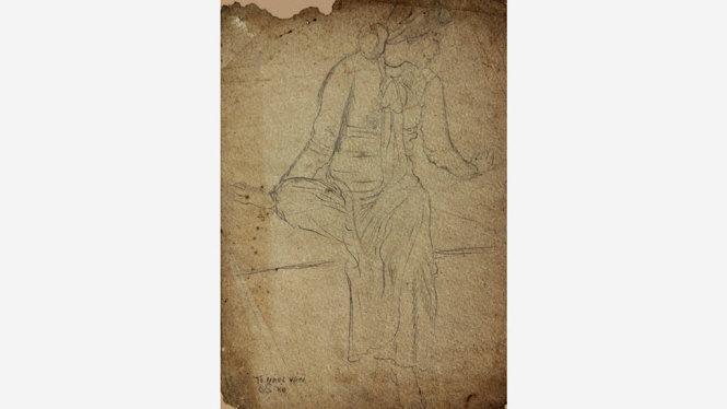 Ký họa thiếu nữ (Tô Ngọc Vân), giá ước tính 500-1.200 USD - Ảnh: LYTHI
