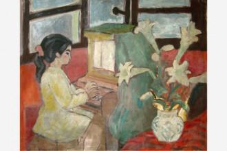 Hoa huệ và nhạc sĩ tí hon (Tô Ngọc Thành), giá ước tính 2.000-4.000 USD - Ảnh: LYTHI