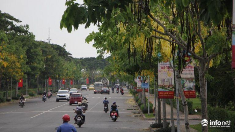 … hay trải dọc trên đường lớn mang tên Trần Văn Trà, quận 7.