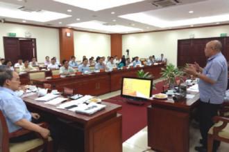 Cuộc họp giữa cơ quan chức năng TPHCM với Tập đoàn Quang Trung.