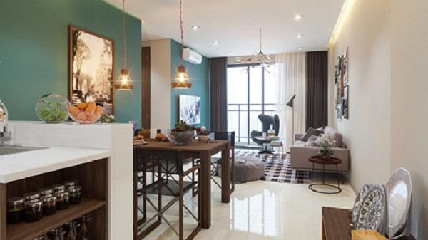 """Phối cảnh nội thất theo phong cách """"retro"""" ở Tara Residence"""