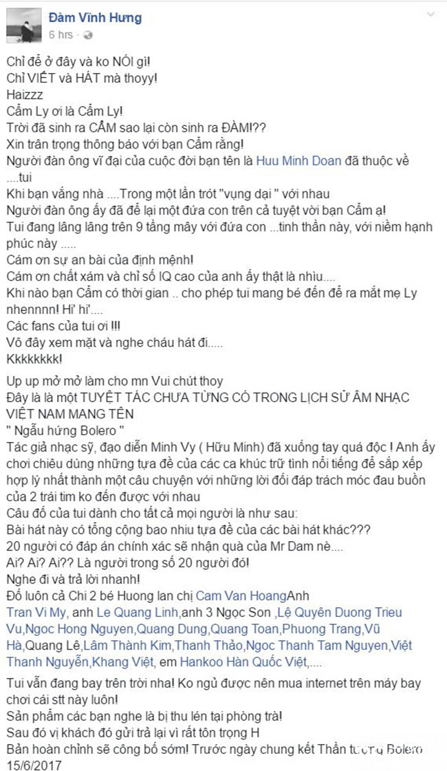 Dam Vinh Hung_Bolero