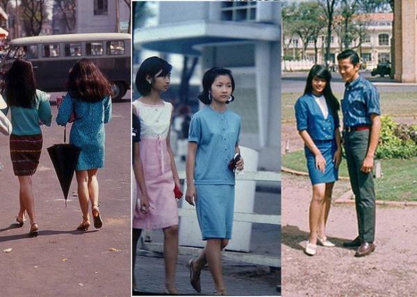 Váy suông cùng họa tiết đơn giản luôn là món đồ được những chị em trẻ tuổi Sài Gòn yêu thích.