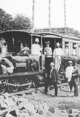 Xe lửa Sài Gòn - Chợ Lớn trong ngày khai trương 27-12-1881 - Ảnh tư liệu