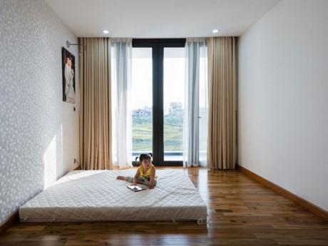Không gian phòng ngủ tối giản.