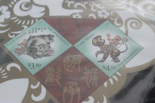 Tem và phong thư các nước về năm con Khỉ, Bính Thân.