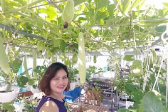 Ngày càng nhiều gia đình ở thành phố sở hữu vườn sân thượng xanh mướt. Nhưng khi nhìn vào khu vườn của gia đình chị Bùi Thị Thương (quận Bình Tân, TP HCM), bạn vẫn sẽ thấy thích thú. Chỉ sau 2 năm, vợ chồng chị đã biến những khoảng sân trơ trọi thành nơi trồng đủ loại cây trái.