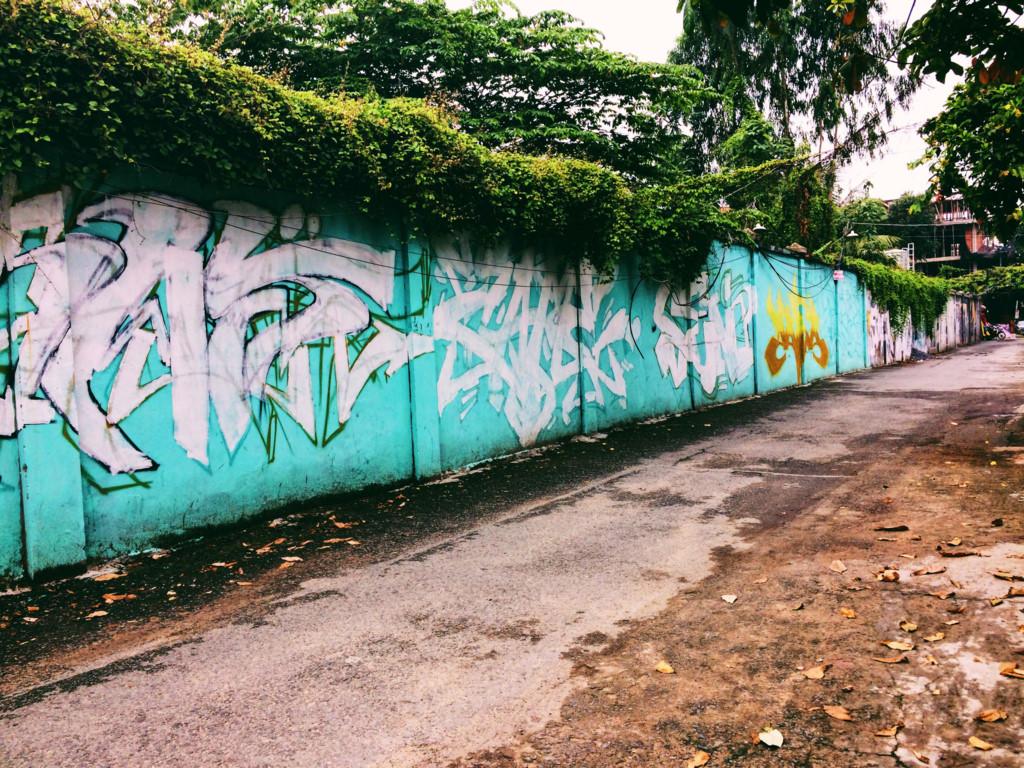 2. Hẻm graffiti: ;Graffiti là một môn nghệ thuật truyền từ phương Tây vào Việt Nam và nhận được sự ủng hộ cũng như thích thú đối với mọi người, đặc biệt là các bạn trẻ.