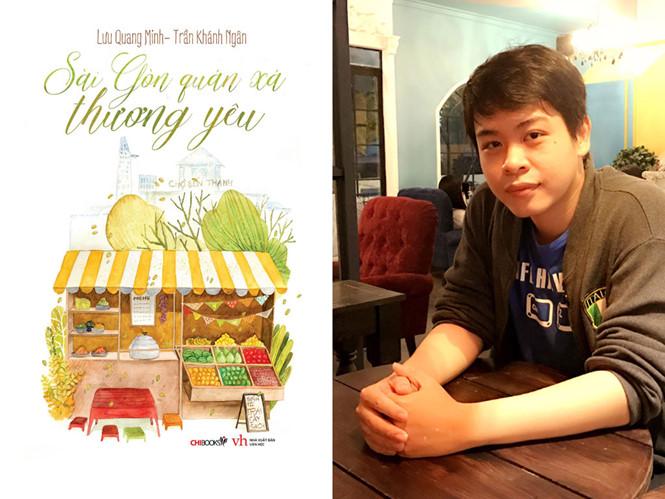 Tác giả Lưu Quang Minh và sách /// Ảnh: L.NChia sẻ Tác giả Lưu Quang Minh và sách