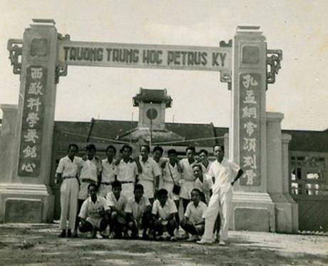 Học sinh trường trung học Pétrus Ký năm 1929. Ảnh tư liệu