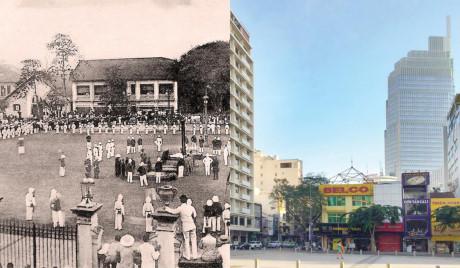 Đường Nguyễn Huệ xưa và nay