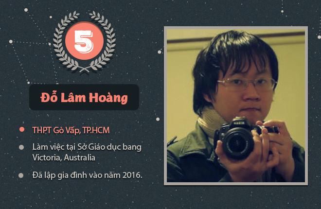 Người vô địch năm thứ 5 là Đỗ Lâm Hoàng (cựu học sinh THPT Gò Vấp, TP.HCM), theo học tại ĐH Kỹ thuật Swinburne, chuyên ngành ngành Kỹ sư Công nghệ Viễn thông và Internet. Lâm Hoàng đang làm việc tại Sở Giáo dục bang Victoria, Australia và đã lập gia đình vào năm 2016.