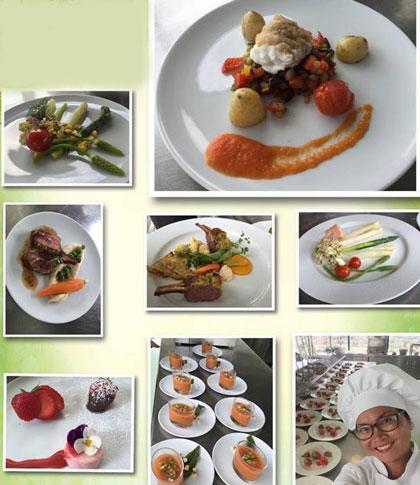 Những món ăn đẹp mắt của chị Diệp được quay làm video hướng dẫn.