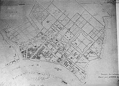 Bản đồ quy hoạch Sài Gòn (năm 1866).