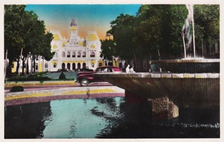 Dinh xã Tây ở Sài Gòn, nay là Ủy ban nhân dân Thành phố Hồ Chí Minh. Ảnh tư liệu.