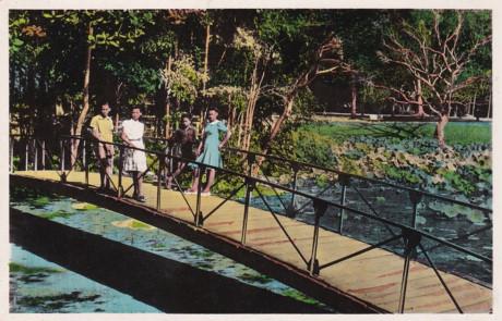 Trong Thảo Cầm Viên ở Sài Gòn năm 1946. Ảnh tư liệu.