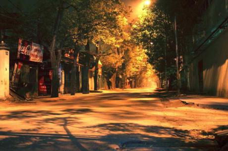 Một góc phố khá vắng, yên tĩnh...Sài Gòn có lúc cũng yên lặng như thế!
