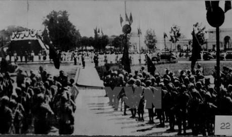 Đông đảo người dân Việt Nam có mặt tại Quảng trường Ba Đình để nghe Chủ tịch Hồ Chí Minh đọc bản Tuyên ngôn độc lập, khai sinh ra nước Việt Nam Dân chủ Cộng hòa ngày 2/9/1945. Ảnh: Tư liệu TTXVN.