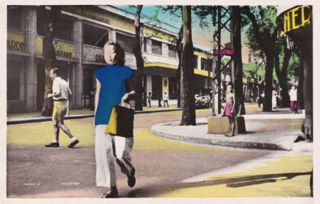 Đường Catinat ở Sài Gòn, nay là đường Đồng Khởi. Ảnh tư liệu.