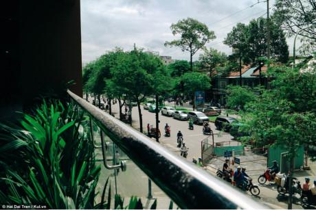 Những hàng cây xanh được bố trí xung quanh trung tâm, mang lại vẻ thoáng mát và trong lành.