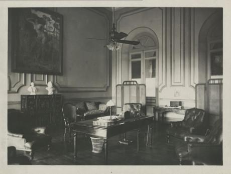 Phòng làm việc chính thức trong Dinh Toàn quyền Sài Gòn. Ảnh tư liệu.