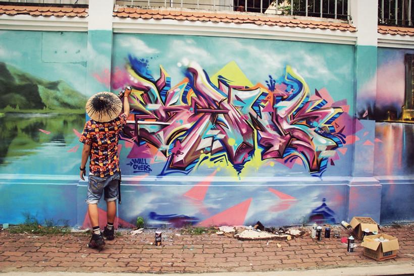 """""""Graffiti giúp cuộc sống tôi thay đổi theo hướng tích cực"""" ẢNH LÊ NAM"""