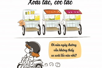 """Mùa hè năm 2016, xoài lắc """"làm mưa làm gió"""" tại Sài Gòn. Dọc các con phố, ngõ hẻm đều ngập tràn các xe đẩy bán """"họ nhà lắc"""". Giờ đây, món ăn này không còn được ưa chuộng, kéo theo đó là loạt xe xoài cũng mất hút."""