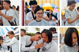 Hơn 4000 sinh viên và người dân tham gia hiến tóc trong chương trình.