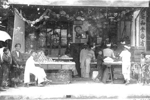 Một cửa hàng bánh Trung Thu.