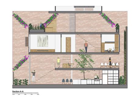 Bản thiết kế cải tạo lại căn nhà của các kiến trúc sư.