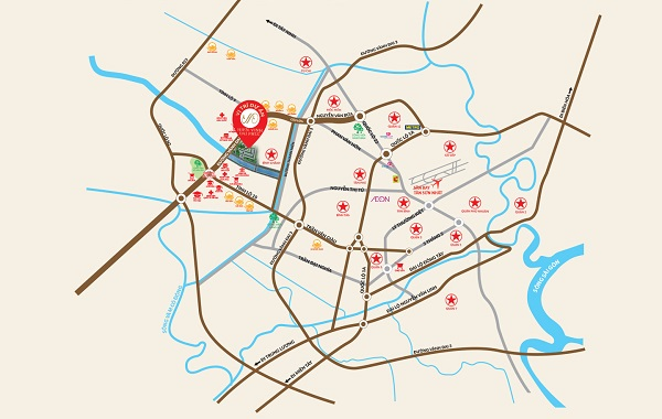 Dự án nằm trên tỉnh lộ 824, huyện Đức Hoà.