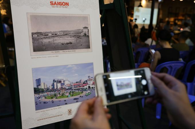 """""""Tôi ngỡ ngàng khi thấy nhiều công trình kiến trúc Sài Gòn cách đây cả một thế kỷ đến nay không thay đổi. Có những tòa nhà tôi hay đi qua hàng ngày, giờ mới biết ngày xưa nó là một dinh thự hay nhà thờ, cửa hàng..."""", bà Phụng (50 tuổi) thích thú nói."""
